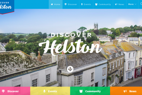 Discover Helston web homepage